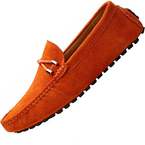 ODEMA hommes de conduite Appartements à enfiler mocassin Flâneur Chaussures Orange