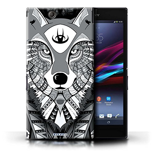 Kobalt® Imprimé Etui / Coque pour Sony Xperia Z Ultra / Loup-Rouge conception / Série Motif Animaux Aztec Loup-Mono