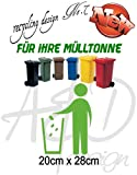 Recycling Design No.7 - ***Mülltonnenaufkleber/ Sticker/ Tattoo*** frei wählbare Wunschfolienfarbe!