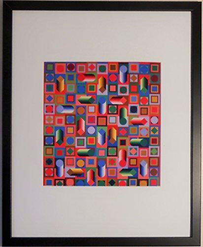 aufgezogen und gerahmt Hyram Prism Print von Victor Vasarely–50,8x 40,6cm–Teil der...