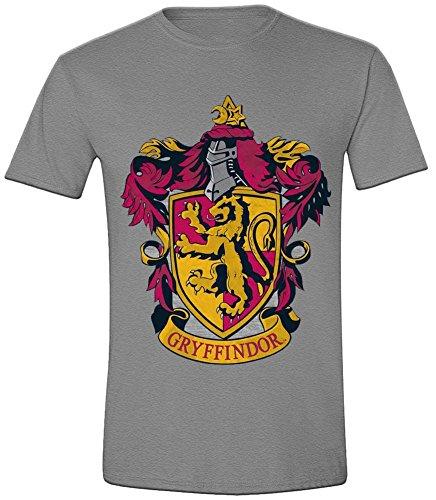 Harry Potter - Gryffindor Crest Herren T-Shirt - Grau - Größe X-Large