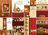 50 Weihnachtskarten - 8 Motive - Klappkarten - Grußkarten mit 50 farbigen Hüllen Sortiment Glückwunschkarten 22-4350 limitierte Edition