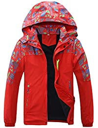 Zhhlaixing Al aire libre Handsome Boys Windproof Coat Hooded Single layer Sports Jackets