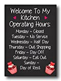 #8: Nourish Welcome To My Kitchen Fridge Magnet