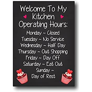 Nourish Welcome to My Kitchen Fridge Magnet