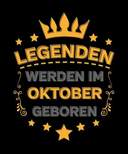 -- Legenden werden im Oktober geboren -- Boys T-Shirt Schwarz