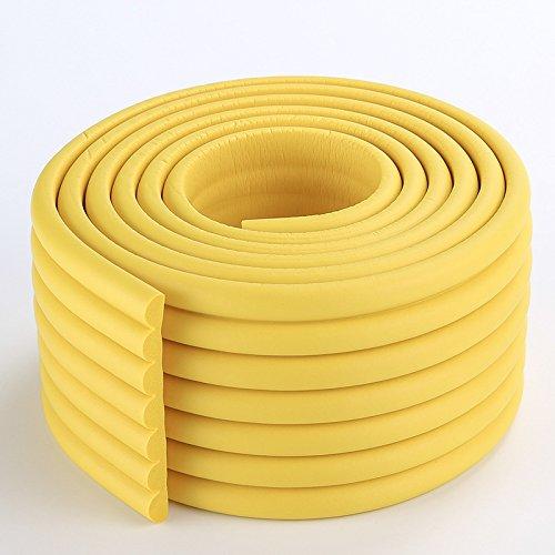 Universal Eckenschutz Schutzecken Sicherheits Schutz Ecken Kantenschutz Sicherungspuffer Schutzkappen Schaumstoff Tischkantenschutz Stoßschutz selbstklebend 2m Gelb 2MX80MM