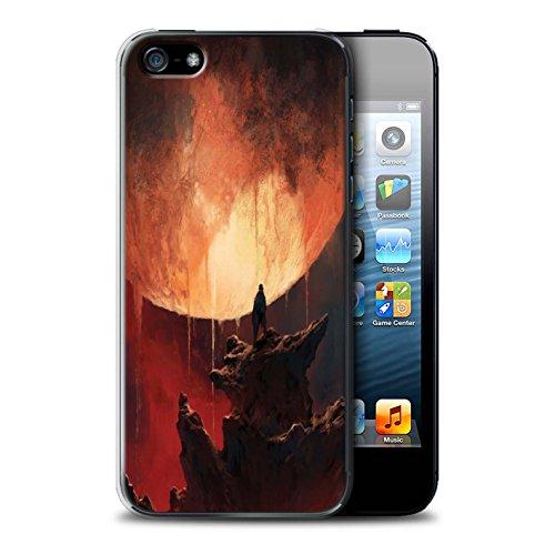 Offiziell Chris Cold Hülle / Case für Apple iPhone 5/5S / Pack 12pcs Muster / Fremden Welt Kosmos Kollektion Schmelzen Sonne