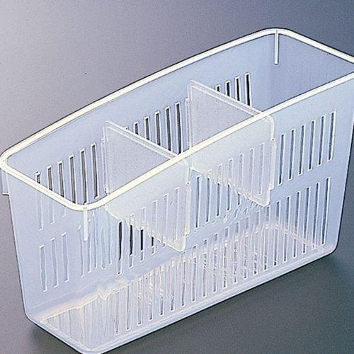 Lemish Plastic Eggs Vegetable Space Saver Organiser Fridge Shelf Holder Pull Out Drawer Storage Basket (Clear White, Standard Size)