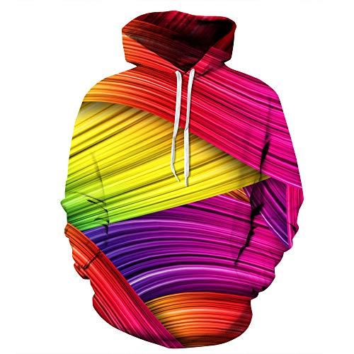 ZFQQ Outdoor Hoodie 3D-Druck Pullover Grafik Sweatshirt Pullover Digitaldruck Kapuzenpullover Paar Baseball Wear -