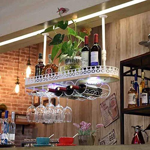 HhGold Weinregale Massivholz Bar Weinglas Rack hängen Europäischen Dekoration Becherregal (Farbe: B) (Farbe : A)