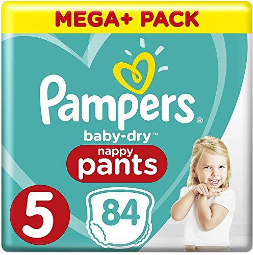Pampers Baby Dry Pants Windeln, Gr.5 (11-18kg), Mega Plus, 1er Pack (1 x 84 Stück)