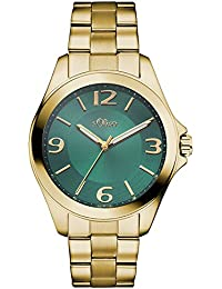 s.Oliver Damen-Armbanduhr Analog Quarz Edelstahl SO-3057-MQ