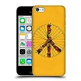 Head Case Designs Offizielle Florent Bodart Frieden Gelb Fahrräder Ruckseite Hülle für Apple iPhone 5c