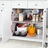 SoBuy® FKW33-W Neu Luxus-Küchenwagen mit Edelstahlplatte, Küchenschrank, Kücheninsel,Servierwagen, Rollwagen, mit Ablage für Mülleimer, Abfalleimer - 4