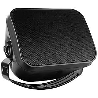 Pronomic OLS-5 BK DJ PA Outdoor-Lautsprecher für Garten, Terrasse, Restaurant (120 Watt, Schutzart IP56, 8 Ohm, 5,25