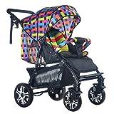 TZQ Passeggino Per Bambini Reclinabile Leggero Trolley Pieghevole Ammortizzatori...