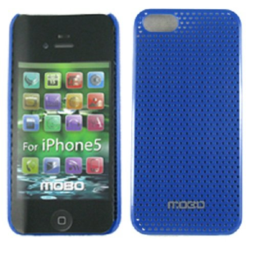 Mobo ecmiph5holee Protector Case für iPhone 5-1Pack-Retail Verpackung-Blau 5 Pack Faceplates