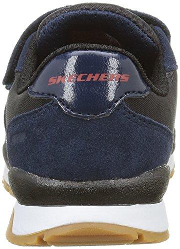 Skechers Throwbax, Scarpe da Ginnastica Basse Bambini e Ragazzi Blu (NVBK)