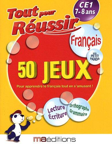 Français avec petit panda : 50 jeux CE1 7-8 ans