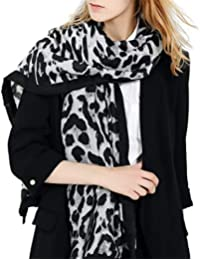 ZYUEER Echarpe Leopard Foulard Leopard ChâLe Hiver Femme Grande Foulard  Blanc Gris Kaki Marron Pas Cher 0b15b52c781