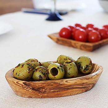 Schälchen aus Olivenholz oval 12 cm | Handarbeit | Grillzubehör | perfektes Geschenk für Grill Liebhaber