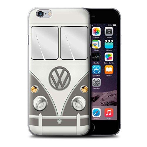 Stuff4 Hülle / Case für Apple iPhone 6S+/Plus / Maus Grau Muster / Retro T1 Wohnmobil Bus Kollektion Maus Grau