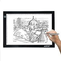 AGPtek Light Pad A3 mesa de luz trazador de luz LED Artcraft Tracing Pad Caja de luz ultra-delgado cable USB brillo regulable Tatoo Pad Aniamtion, el dibujo, la planificación, el estarcido