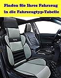 Auto Sitzbezüge von Big Ant, Sitzauflagen Auto,luftiger Racing Sport Auto Sitzauflage, Sitzkissen Auto mit PU Leder, geeignet für Mehrheit Auto,LKW,SUV,Van(Grau-schwarz)