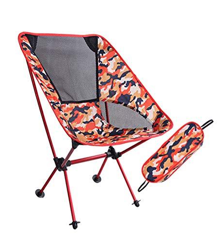 zhxinashu Chaise Pliante Plein Air Tabouret de Camping - Portable Loisir Plage Pêche Jardin Pique-Nique Voyageant Repos Banc Pliable Rouge