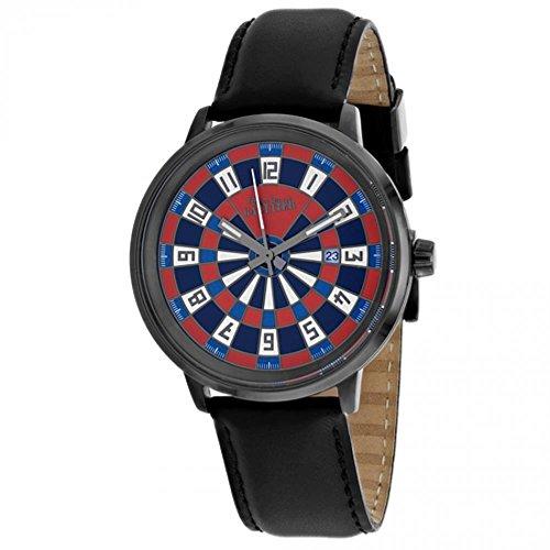 Jean Paul Gaultier Cible Homme 42mm Bracelet Cuir Noir Quartz Montre 8504801