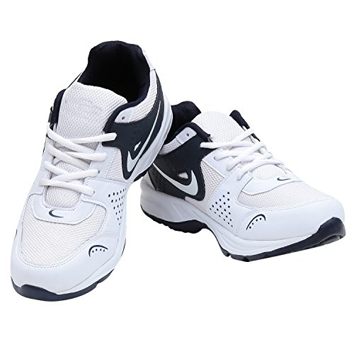 Calaso Men's Running Sport Shoes (Aero-Nike-Silver-White-30_8)  available at amazon for Rs.599