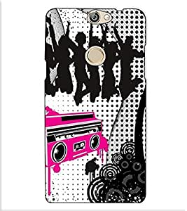 Fuson Designer Back Case Cover for Coolpad Max (Music player theme)