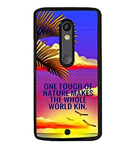 PRINTVISA Quotes Nature Case Cover for Motoroal Moto X Play