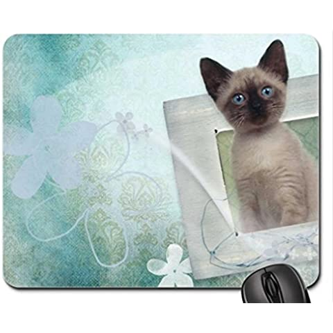 Siamese Kitty Mouse Pad, Mousepad (Cats Mouse Pad)
