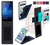 Oppo Find 7 Hülle in blau - innovative 4 in 1 Handyhülle