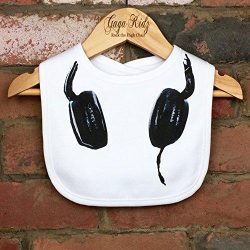 DJ Headphones Hook and Loop Baby Bib