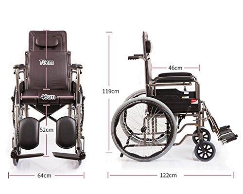 G-AX Rollstühle Elektrische Rollstühle Scooter Rollstuhl, Rollstuhl für behinderte Patienten, Alter Mann, Falten und Licht.