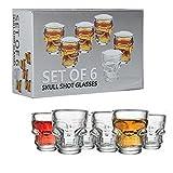 PACKNBUY Skull Head Shot Shot Glasses Set of 6