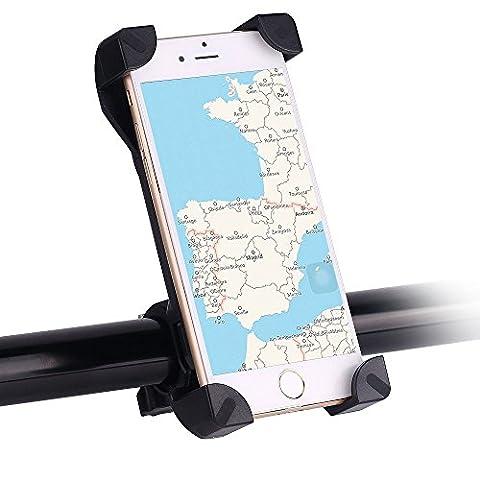 Handyhalterung Fahrrad, Awnic Smartphone Handyhalter Fahrrad Fahrradhalterung Super-Fest mit 4 Eck-Klammern Universal für Handys von 3,5 '' bis 6,5