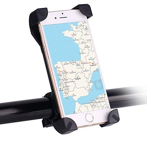 """Smartphone Fahrradhalterung, Awnic Handyhalterung Fahrrad Rutschfest Universal für Handys von 3,5 '' bis 6,5 """" iPhone 5s / 6 / 6Plus / 7 Samsung Galaxy J5 / J3 / A5 usw"""