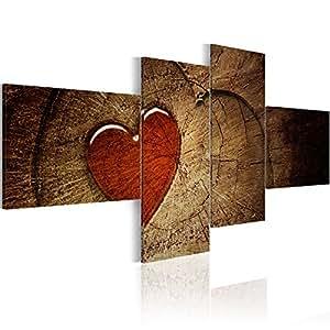 murando® Impression sur toile 200x90 cm - Grand format! - 4 pieces - Image sur toile - Images - Photo - Tableau - motif moderne - Décoration - tendu sur chassis - Fleurs 051505 200x90 cm