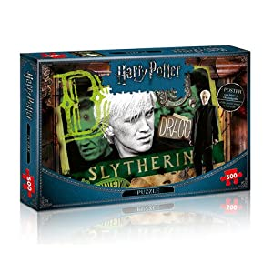 Winning Moves Harry Potter Slytherin Puzzle - Rompecabezas (Puzzle Rompecabezas, Televisión/películas, Niños y Adultos, Harry Potter, 10 año(s), Interior)