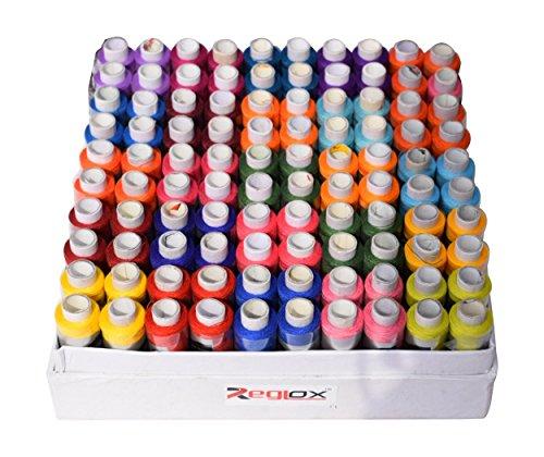 Reglox Polyester 100 Thread Spools, Multicolor