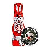 1. FSV Mainz 05 Schokoladen Osterhase, Schokohase 150 g - Plus Aufkleber Wir lieben Fussball