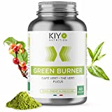 Brûleur de Graisse Naturel - Extraits de Thé Vert et Café Vert - Diminution de l'Appétit - Augmentation de la Thermogenèse et du Métabolisme - Fabriqué en France par Kiyo Nutrition