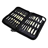 51q5bDX4t3L. SL160  - BEST BUY #1 Wood Pottery Tool Set, Wartoon 14 Piece Wood Pottery Modeling BoxWood Sculpey Sculpture Clay Tools Set in Convient Carry And Storage Case Reviews and price compare uk