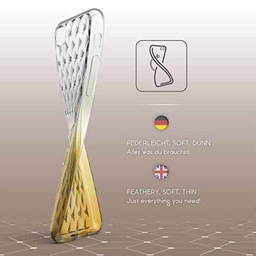 Urcover® Apple iPhone 7 / 8 Soft Case in Rosa   TPU Diamond 3D Gradient Cover   Trendy Handyschutz Zubehör Handy-Cover Schutz-Hülle Schale Gelb