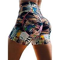 DDL Yoga Pantalones Cortos de Estiramiento Delgados Pantalones Cortos de Yoga para Mujeres, con Cintura Alta, Básica de Prendas de Vestir,S
