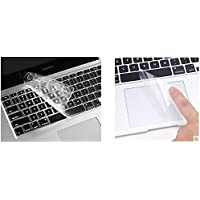"""i-Buy Français Clavier Coque de Protection / Couverture AZERTY pour MacBook Air 13"""" Pro 13"""" 15"""" + Protecteur de pavé tactile - TPU Transparent"""